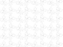 Abstract. Floral design combination of lines and dots and white background color, design / ornament pencil lines form a flower / leaf / plant produces a grayish Royalty Free Stock Photo