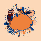 Owl, design Royalty Free Stock Image