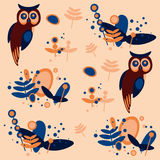 Owl, pattern Royalty Free Stock Photography