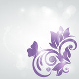 Abstract floral design. Vector illustration. royalty free illustration