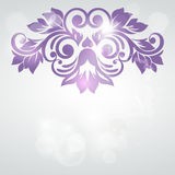 Abstract floral design. Vector illustration. Stock Images