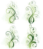 Abstract Floral Designs stock illustration