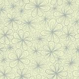 Abstract floral doodle vector seamless pattern Stock Photo