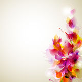 Abstract  floral  elements Stock Images