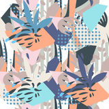Abstract floral elements paper collage Stock Photography