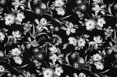 Abstract floral fabric material royalty free stock photo