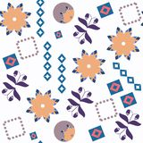 Abstract floral fantasu nature vector seamless pattern. It is lo royalty free stock images