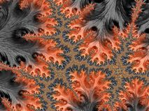 Abstract floral fractal in autumn colors, artwork for creative a. Rt, design and entertainment royalty free illustration
