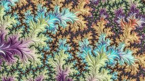 Abstract floral fractal pattern constantly changing colors