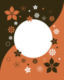 Abstract floral frame 2 - vector. Illustration of a floral background with a frame,useful as invitation or greeting card.EPS file available Stock Photos