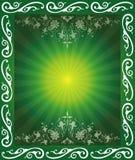 Abstract Floral Frame. Background Illustration Stock Image