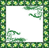 Abstract Floral Frame. Background Illustration Royalty Free Stock Photo
