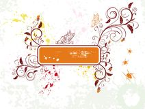 Abstract floral frame stock images