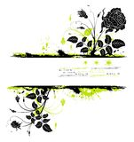 Abstract floral frame stock illustration