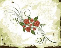 Abstract floral frame Stock Photo