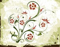 Abstract floral frame Stock Photos