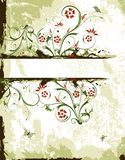 Abstract floral frame vector illustration