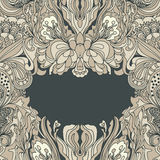 Abstract floral frame Royalty Free Stock Images