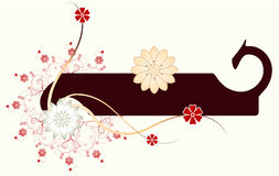 Abstract floral frame. Vector illustration Stock Photos
