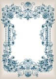Abstract Floral Frame Background royalty free illustration