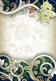 Abstract Floral Frame Background Royalty Free Stock Photography