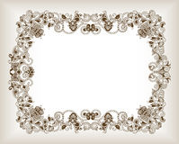 Abstract Floral Frame Background Royalty Free Stock Photos