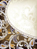 Abstract Floral Frame Background Stock Images