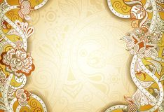 Abstract Floral Frame Background. Illustration of abstract floral background in asia style Royalty Free Stock Images
