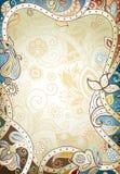 Abstract Floral Frame Background vector illustration