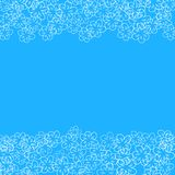 Abstract floral frame on a blue background. For prints, greeting cards, invitations, wedding, birthday, party, Valentine's day. Royalty Free Stock Images