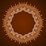Abstract floral frame design. Abstract circular pattern design mandala style. Round Pattern Mandala. Abstract design of Persian- Islamic-Turkish-Arabic circle Stock Photo