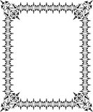 Abstract floral frame, elements for design, vector. Illustration Stock Photos