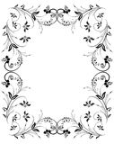 Abstract floral frame Stock Photography
