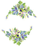 Abstract floral frame Stock Photos