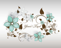 Abstract floral frame Royalty Free Stock Photo