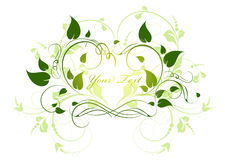 Abstract floral frame Royalty Free Stock Photography