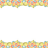 Abstract floral frame with place for text Stock Images