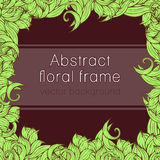 Abstract floral frame plant, vegetable background, cover, card, invitation, banner.  of colorful scrollwork, plants, grass, leaves. Abstract floral frame plant Stock Photography