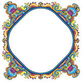 Abstract floral frame (series) Stock Images