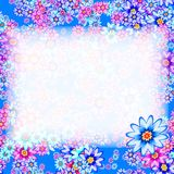 Abstract floral frame. Texture background. Stock Photo
