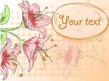 Abstract floral frame vector Stock Image