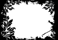 Abstract floral frame vector illustration. Abstract floral decorative black frame vector illustration Stock Illustration