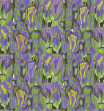 Abstract floral funky seamless pattern. Textured background Royalty Free Stock Photography