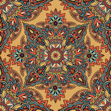 Abstract floral geometric pattern Arabic ornament seamless backg Stock Photos