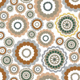Abstract floral geometric pattern Arabic ornament seamless backg. Floral seamless pattern. Flower background. Floral seamless texture with flowers Royalty Free Stock Photo