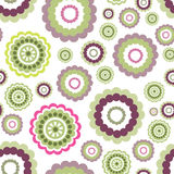Abstract floral geometric seamless pattern. Circle ornament Royalty Free Stock Photography