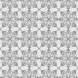Abstract floral geometric seamless pattern. Stock Photos