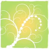 Abstract floral green. Green abstract floral design with a green and yellow gradient background Royalty Free Stock Photos