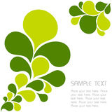 Abstract floral green background Stock Photography