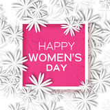 Abstract  Floral Greeting card - International Happy Women's Day - 8 March holiday background Stock Image